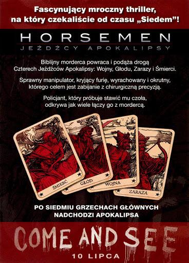 Tył ulotki filmu 'Horsemen - Jeźdźcy Apokalipsy'