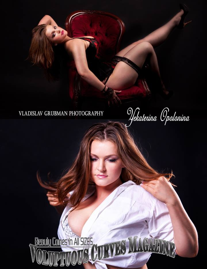 Plus size model work published in a magazine - photography by Vlad Grubman