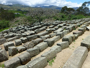 Photo: Inca stones not in structure, probably for future expansion
