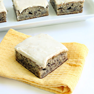 Banana Snack Cake with Banana-Cream Cheese Frosting