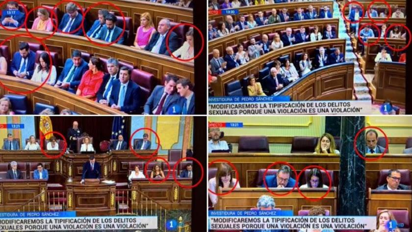El uso de móviles durante la sesión de investidura / Twitter @Jagospierre