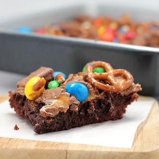 Raid-Your-Kids'Halloween Candy Brownies