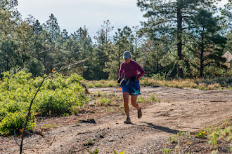 Photo: South side of Los Alamos Canyon; Jemez Mountains Trail Run, May 2014