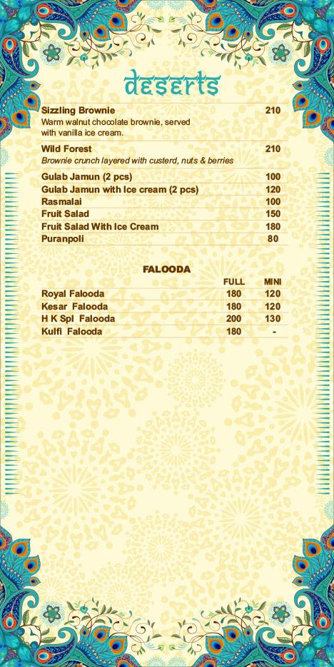 Hare Krishna menu 22