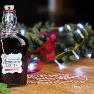 Homemade Peppermint Liqueur