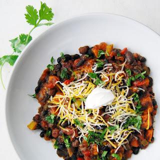 Vegetarian Black Bean & Sweet Potato Chili.