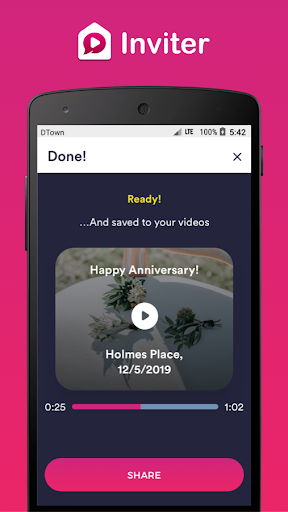 Video Invitation Maker by Inviter.com 1.0.54 screenshots 3