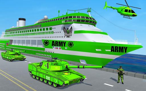 US Army Ship Transport:Tank Simulator Games 1.20 com.us.army.atv.limo.transporter.plane apkmod.id 1