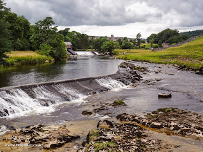 Photo: Weir, River Wharfe, Grassington