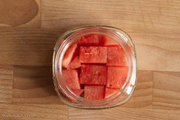 Not The Traditional Watermelon Pickle That You So Often Find.  This Uses The Meat Of The Melon!