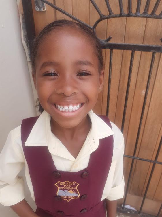 Amahle Ngwendu, 6, of Benyati Primary School in Kwazakhele, managed to make two new friends this week