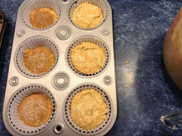 Spray pans with non stick spray. 24 muffins.  Pre-heat oven to 350 degrees.