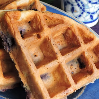 Blueberry Waffles with Blueberry Sauce!
