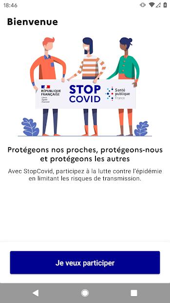 StopCovid France Android App Screenshot