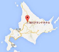 地図:レストラン アドニス@旭川グランドホテル