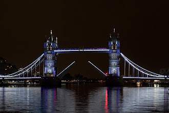 Photo: Tower Bridge was last relamped with spotlights 25 years ago.