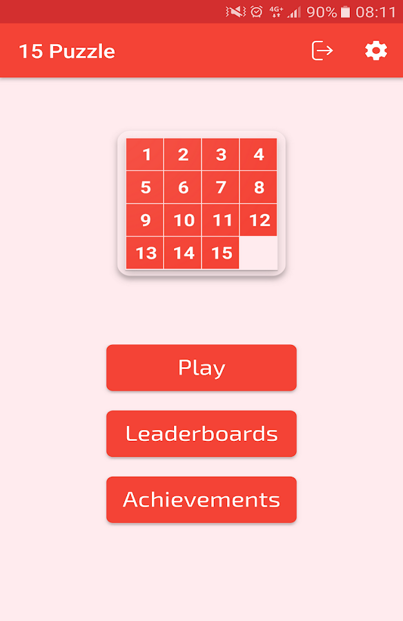 15 Puzzle (Game of Fifteen)- screenshot