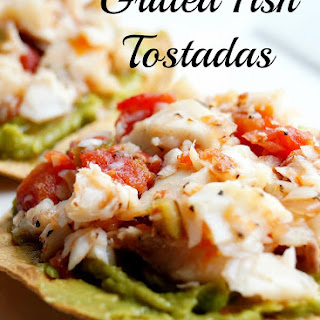 Healthy Grilled Fish Tostadas for 21 Day Fix and Weight Watchers.