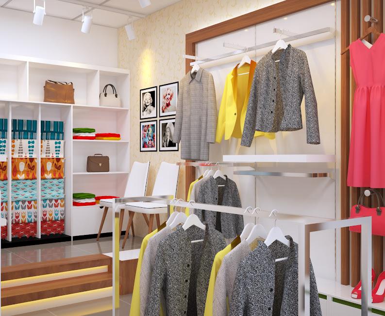 nâng cấp thiết kế shop thời trang diện tích nhỏ tinh tế