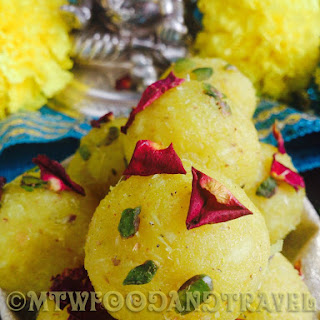 PINEAPPLE LADDOO ( DAIRY FREE, GLUTEN FREE ) - HAPPY GANESH CHATURTHI