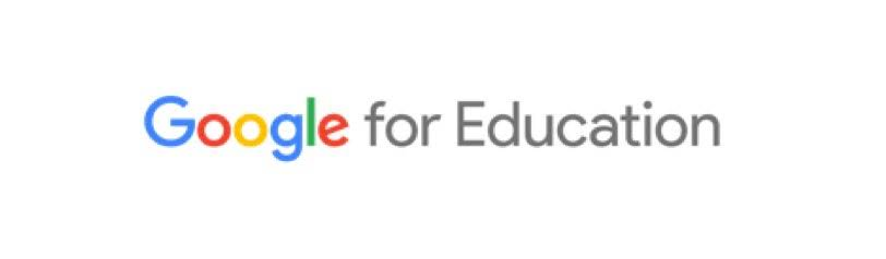 Google for Education logo with Google in our blue, red, yellow, blue, green, and red colors.