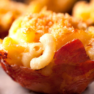 Prosciutto-Wrapped Macaroni and Cheese Cups.