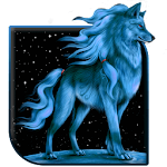 Blue Wolf Live Wallpaper Icon