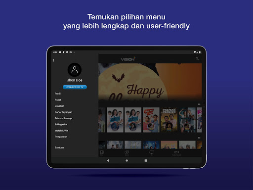 Vision+ : Nonton TV & Film Streaming modavailable screenshots 8