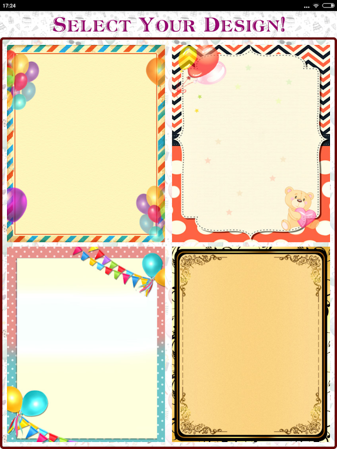 Party Invitation Card Designer Android Apps on Google Play – Birthday Invitations Cards Designs