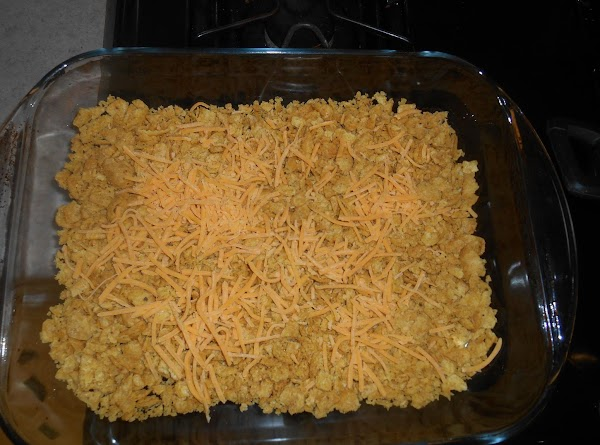 break up half the bag of corn chips and put them in a casserole...