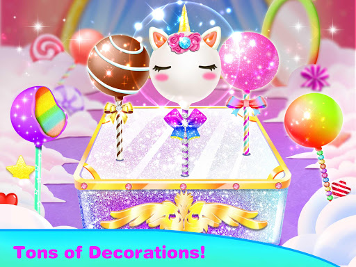 Screenshot for Unicorn Cake Pop Maker–Sweet Fashion Baking Games in United States Play Store