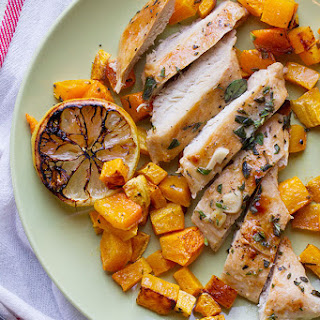 Easy Lemon Chicken with Butternut Squash.