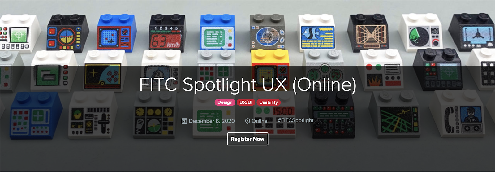 Screenshot of FITC Spotlight UX (Online) registration page.