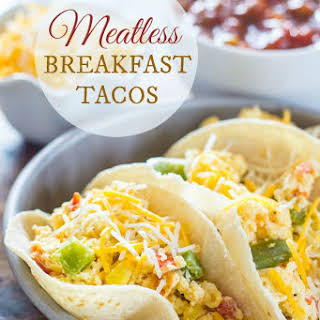 Meatless Breakfast Tacos.