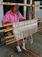 Photo: weaver in a small village outside of Khorat