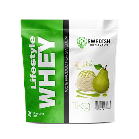 Swedish Supplements Lifestyle Whey Protein 1kg - Vanilla/Pear