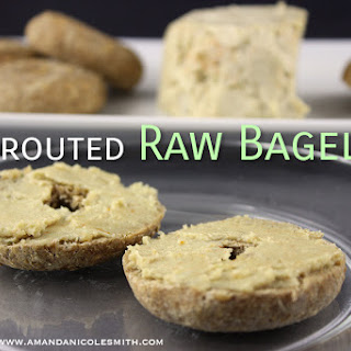 Sprouted Raw Vegan Bagels.