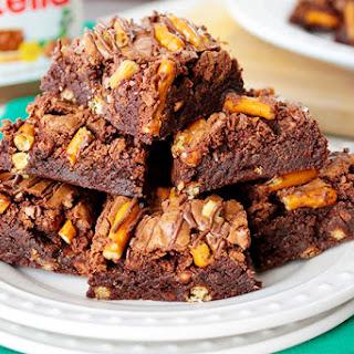 Salted Nutella Pretzel Brownies Recipe
