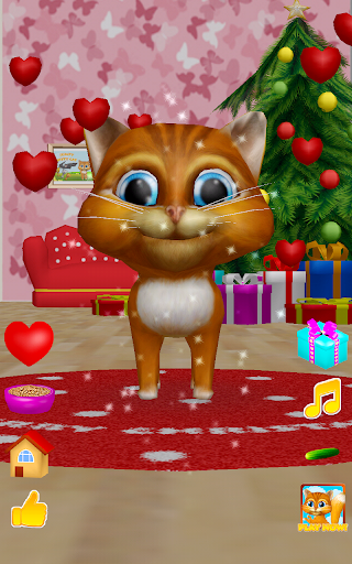 3D Christmas Talking Cat Diana