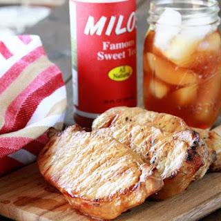 Ginger Sweet Tea Brined Pork Chops.