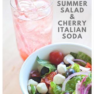 Italian Summer Salad & Cherry Italian Soda with Degustabox