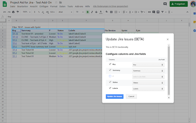 Project Aid for Jira - G Suite Marketplace