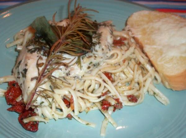Fresh Rosemary Chicken With Pesto Pasta! Recipe