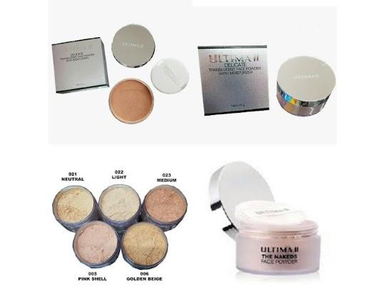 Bedak Tabur ULTIMA II Face Powder ringan alami nyaman digunakan lembut melembabkan kulit wajah