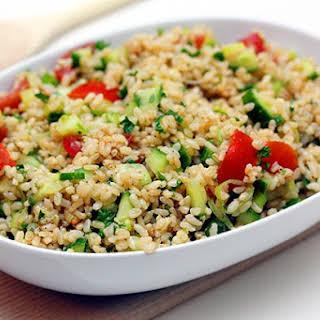 Brown Rice Salad.