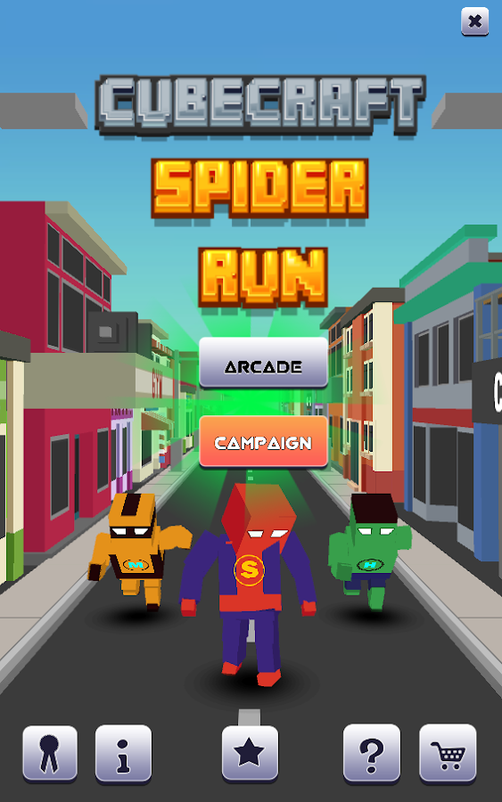 Cube craft spider run android apps on google play for Good craft 2 play store