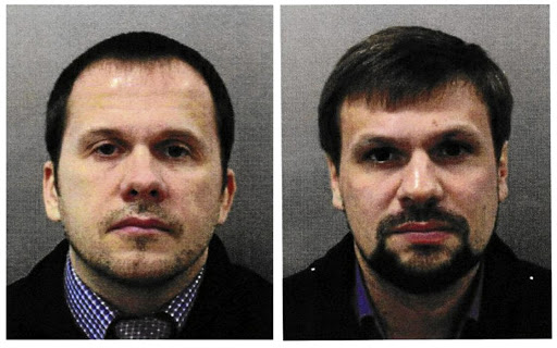 Photos released by the UK Metropolitan Police of Alexander Petrov and Ruslan Boshirov, accused of attempting to murder former Russian intelligence officer Sergei Skripal and his daughter Yulia in Salisbury. Pictures: METROPLITAN POLICE HANDOUT VIA REUTERS