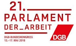 Typografik: 21. Parlament der Arbeit.