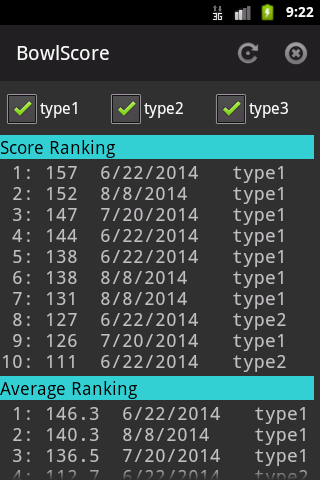BowlScore 10- screenshot