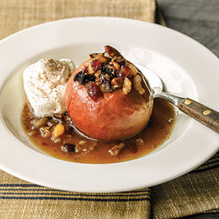 Baked Apples with Dried Fruit and Nut Stuffing